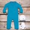 Silky Label pakket Mutsje Sokjes Jumpsuit Smalle Pijp Maroc Blue Ice White