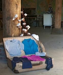 Silky Label Koffer Kleding Biologisch Duurzaam
